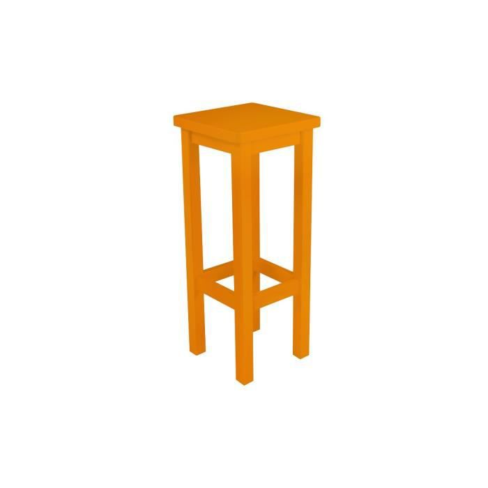 tabouret de bar droit bois made in france orange achat. Black Bedroom Furniture Sets. Home Design Ideas