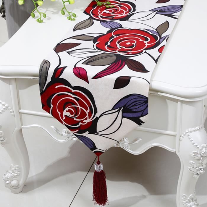 Chemin de table rose linge de table nappe soie qualit art - Linge de table raffine ...