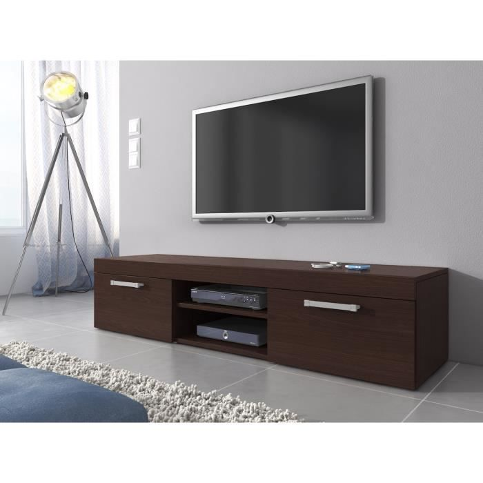 meuble tv mambo ch ne fonce weng 160 cm achat vente meuble tv meuble tv mambo ch ne fonce. Black Bedroom Furniture Sets. Home Design Ideas
