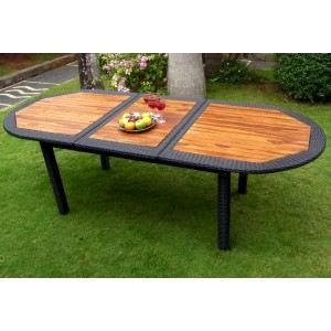 table de jardin avec rallonge en resine table de lit a roulettes. Black Bedroom Furniture Sets. Home Design Ideas