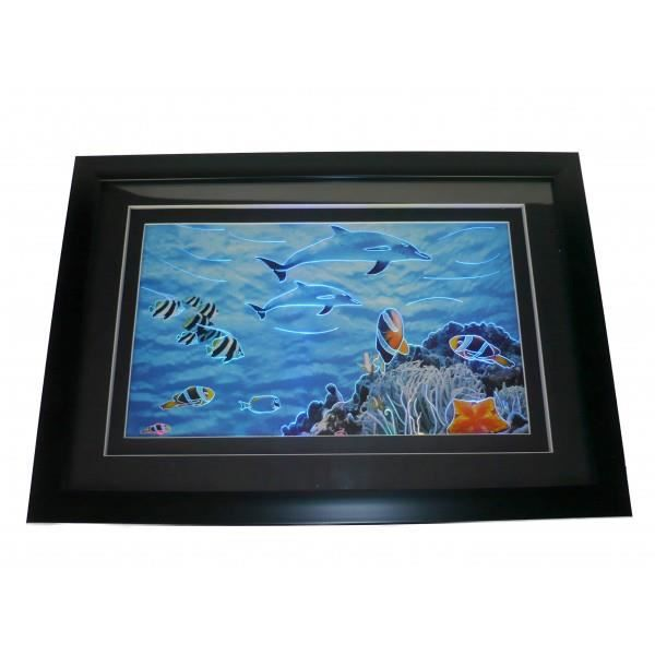 cadre lumineux dauphins led achat vente cadre photo cdiscount. Black Bedroom Furniture Sets. Home Design Ideas