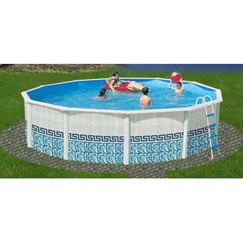 piscine ronde mosaique acier 460cm x h120cm achat. Black Bedroom Furniture Sets. Home Design Ideas