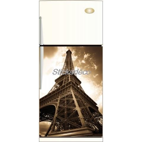 Sticker frigo frigidaire tour eiffel dimensions achat vente stickers v - Tour eiffel dimension ...