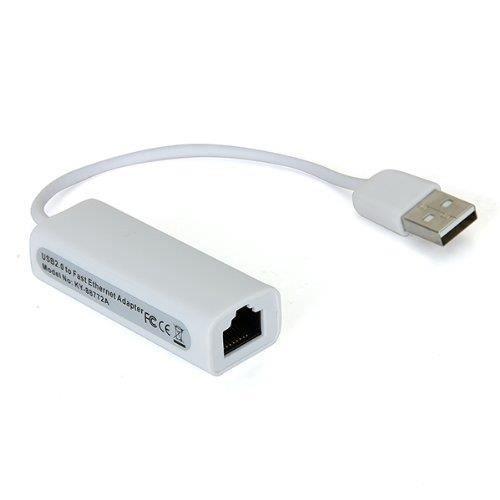CÂBLE RÉSEAU  INECK® Adaptateurs réseau USB 2.0 vers RJ45 Ethern