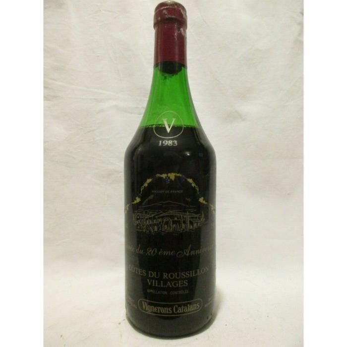 VIN ROUGE côtes du roussillon vignerons catalans (capsule ab