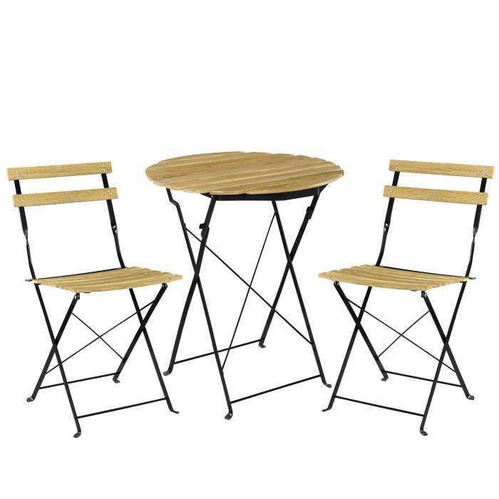 Casa Pro Kit De Bistro Set Table 2 Chaise Meuble Du