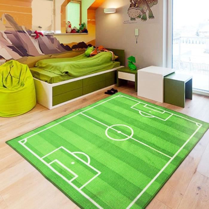 100 130cm tapis salon carpet tapis chambre enfant football jeu tapis shaggy moquette anti. Black Bedroom Furniture Sets. Home Design Ideas