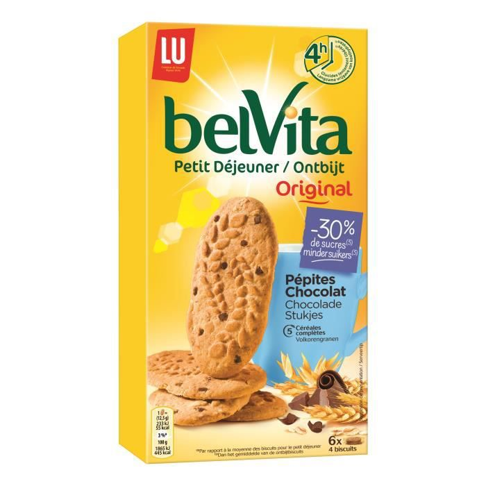 belvita biscuits petit d jeuner all g s aux c r ales et p pites de chocolat 300g achat vente. Black Bedroom Furniture Sets. Home Design Ideas