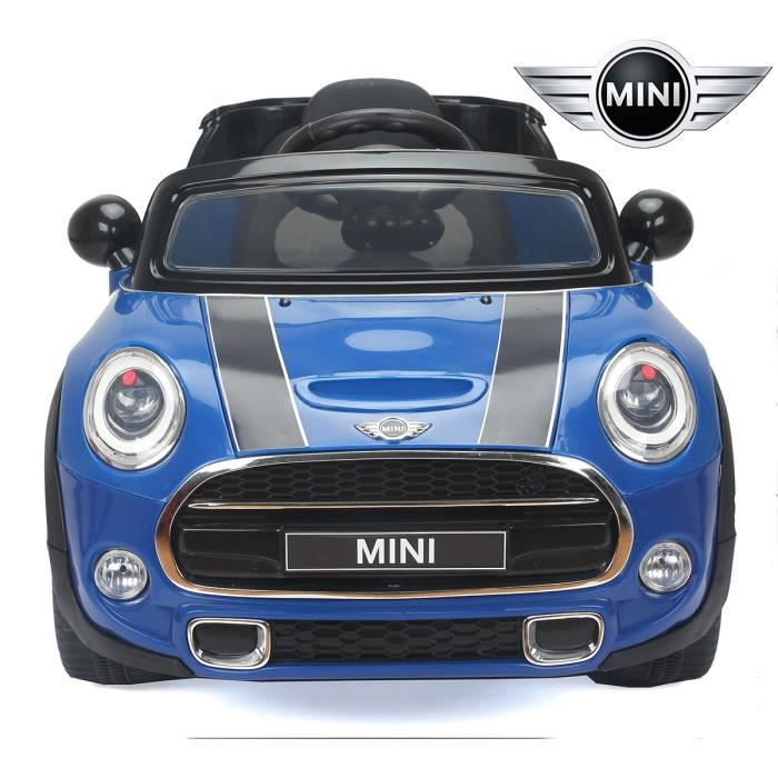 petite voiture lectrique b b enfant mini cooper s bleu. Black Bedroom Furniture Sets. Home Design Ideas