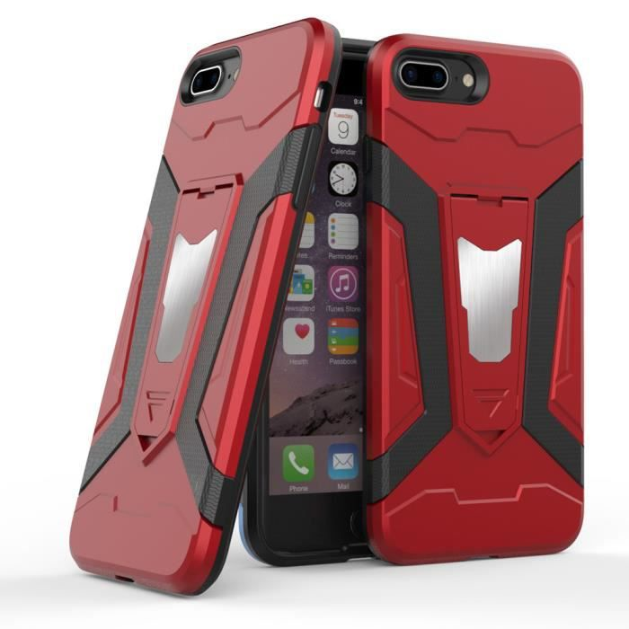 coque iphone 8 plus recto verso rouge