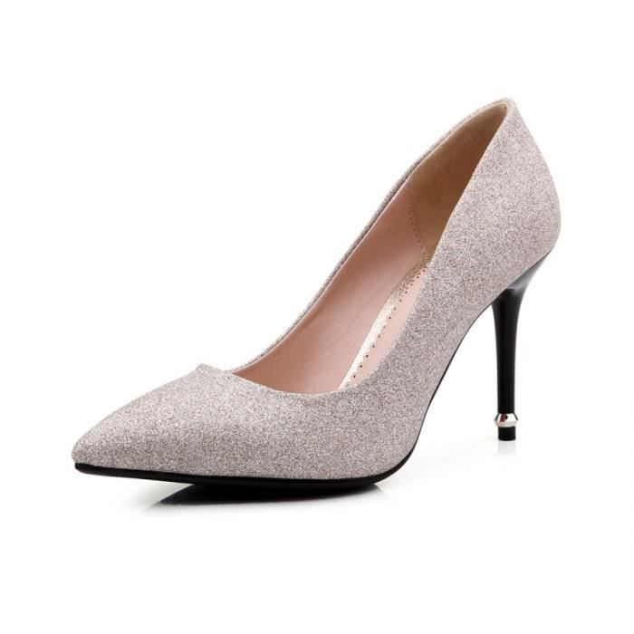 talons hauts-Pure Color Pointed Toe Pump Stilet... JMepkl7Boe