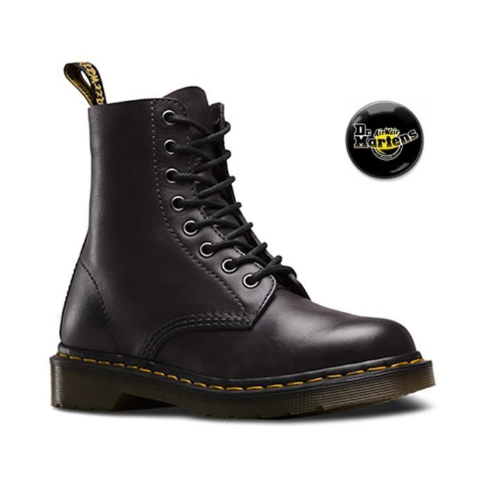 Chaussures Doc Martens 1461 Temperley Charcoal black femme 21153005