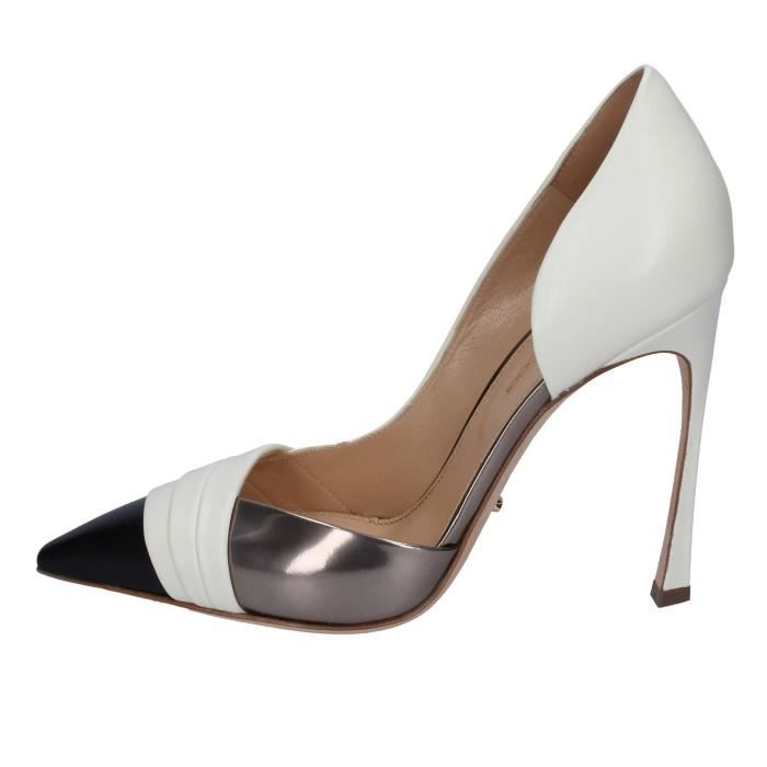 ced8598004be SERGIO ROSSI Chaussures Femme Escarpin Cuir Blanc