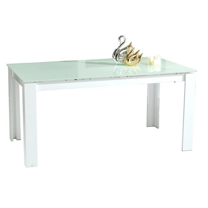 table de s jour extensible swithome aurore blanche achat vente table manger table de. Black Bedroom Furniture Sets. Home Design Ideas
