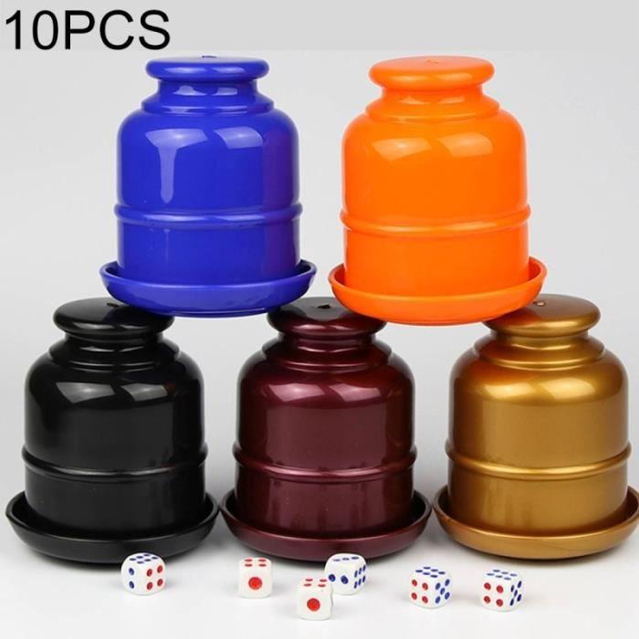 DÉS - JEU DE DÉS 10 PCS Épaississement En Plastique Dice Cup Shaker