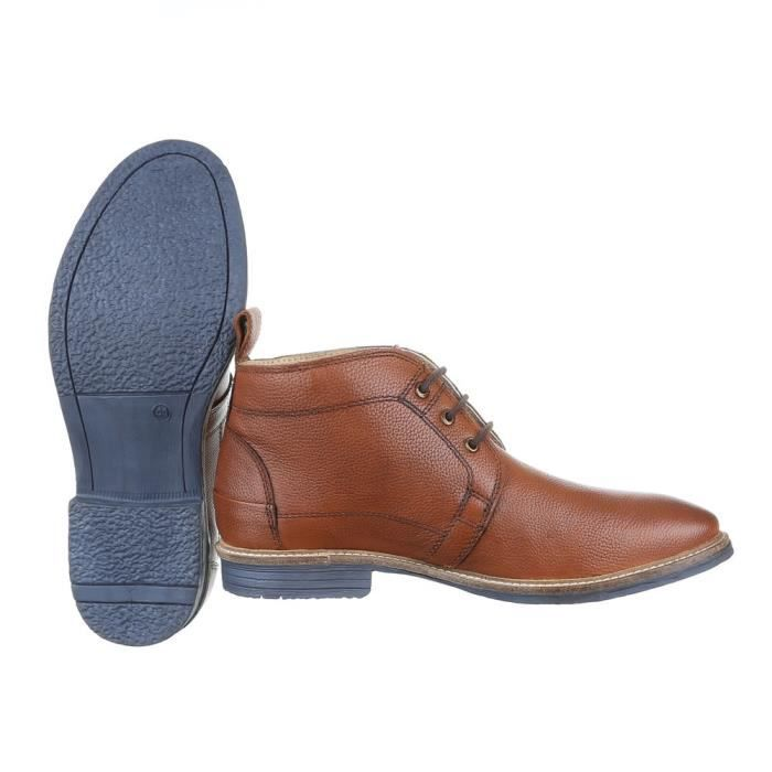 homme botte chaussure cuir lacer ses bottine Camel