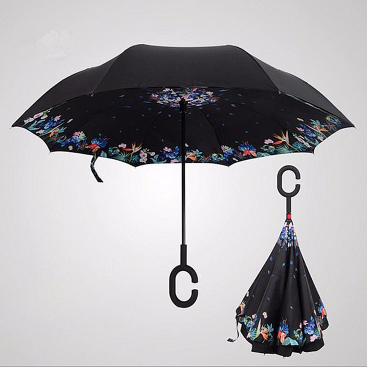 parapluie imprim invers double parasol anti uv vent. Black Bedroom Furniture Sets. Home Design Ideas