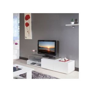 meuble tv laque taupe achat vente meuble tv laque taupe pas cher cdiscount. Black Bedroom Furniture Sets. Home Design Ideas