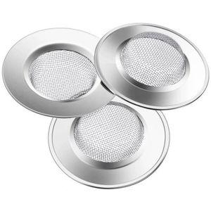 3,5 cm de diam/ètre Pas de trop-plein Uooker Lot de 2 filtres de vidange universels 2 en 1 pour lavabo de salle de bain Bouchon de bonde d/évier de cuisine