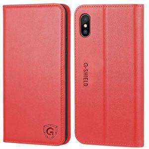 COQUE - BUMPER G-Shield Coque iPhone X / XS Etui en Cuir Véritabl