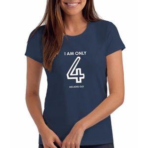T-SHIRT Femmes T-shirt anniversaire avec message - Je suis