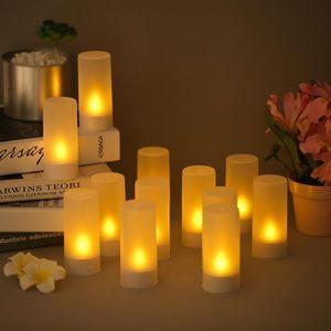 10 CM bon d/écor sans flamme avec t/él/écommande pour salle /à manger /à f/ête votive Bougies sans flamme Lampe de lampe /à LED en forme de bougie /électronique