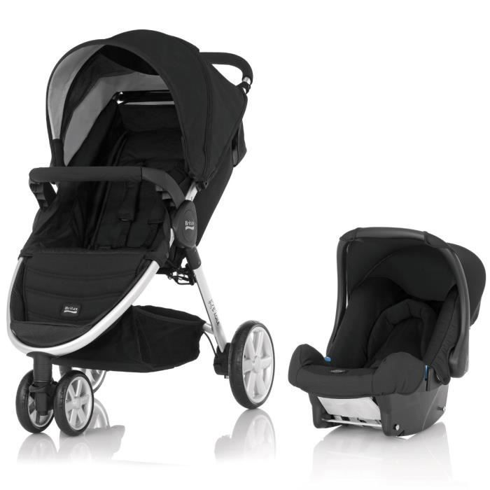 britax poussette b agile 3 si ge auto gr 0 1 black. Black Bedroom Furniture Sets. Home Design Ideas