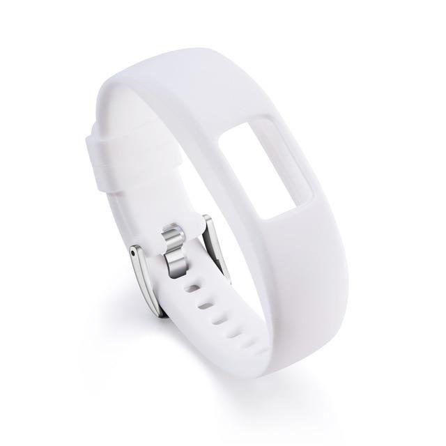 Montre connectée,Bracelet de remplacement en Silicone S L pour bracelet Garmin Vivofit 4 bandes de - Type white-Large Size