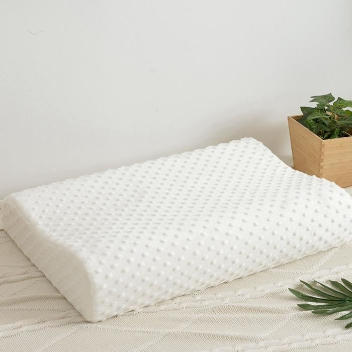 Oreiller cervical massage soins santé cervicaux oreiller lent mousse mémoire rebond (30 * 50cm)