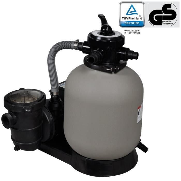 XNA Pompe à Filtre à sable et particules Cuve filtrante Pool Piscine Hors-sol Filtration - 600 W 17000 l-h HB029