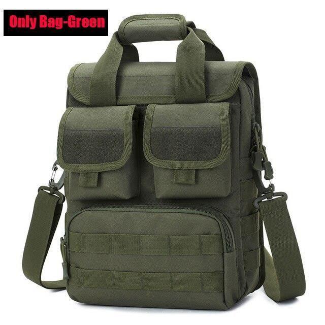 Sac à bandoulière tactique militaire pour hommes sacoche Airsoft de l'armée sac à dos camouflage de Sport d Army green -AOAE4425
