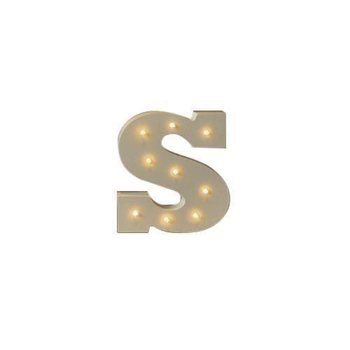 1 pcs Creative bois 26 lettre nordique LED lumière mur signe vintage de noce décoration fournitures-taille: S la22282