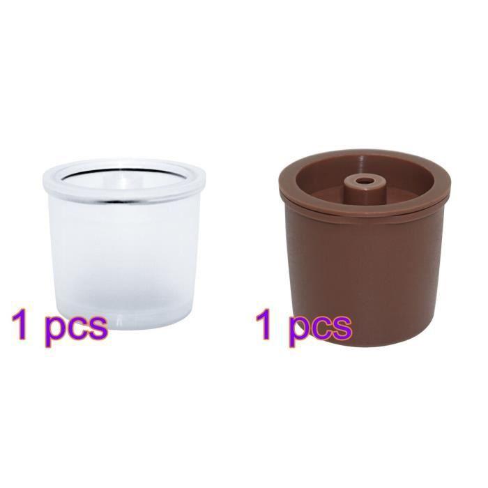 Petit déjeuner - Café,Capsules de café réutilisables, compatibles avec Illy, rechargeables, filtres - Type brown vs Transparent