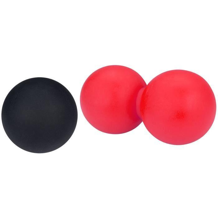 Avento Ensemble de ballon de massage/crosse Rose et noir