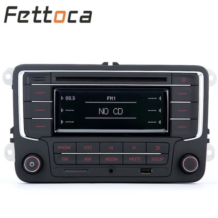 condition parfaite Autoradio Bluetooth, USB, AUX, CD, SD, MP3, pour VW GOLF, JETTA, PASSAT, Caddy, POLO, RCD3