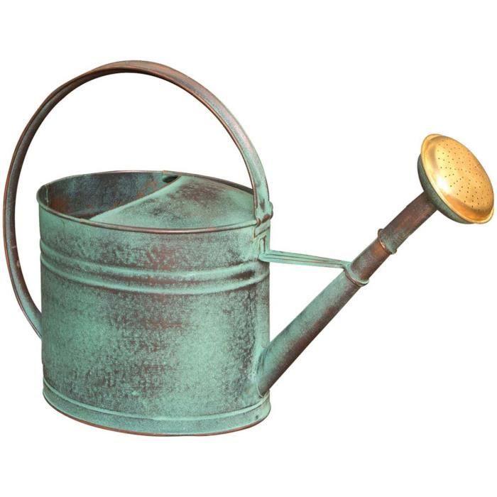 Arrosoir vert vieilli avec pomme 4 litres Vert Vieilli