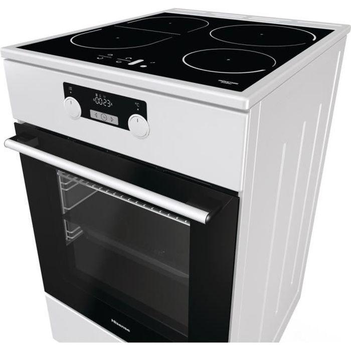 Hisense HI55222BW Cuisinière table induction - 4 foyers - Four électrique - catalyse - 70L - Classe A - 50x85cm - Blanc