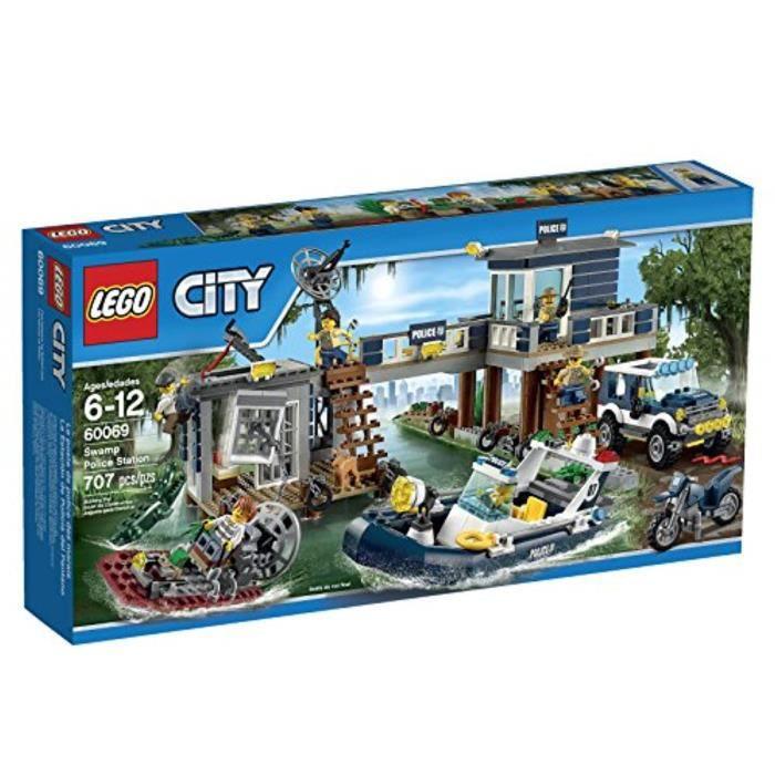Jeu D'Assemblage LEGO TSPAU City Police Swamp Police Station