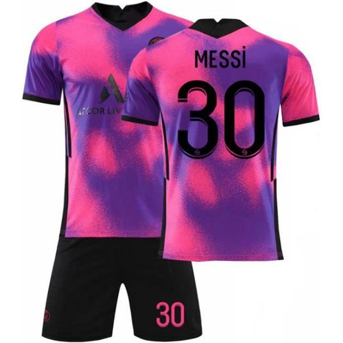 2021 Paris troisième extérieur maillot de football violet n°30 Messi Convient aux adultes