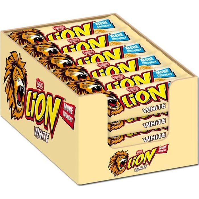 Nestlé Lion blanc, barres, chocolat, 24 Bars