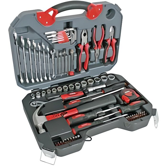 Coffret outils - 78 pieces - HQ chrome vanadium
