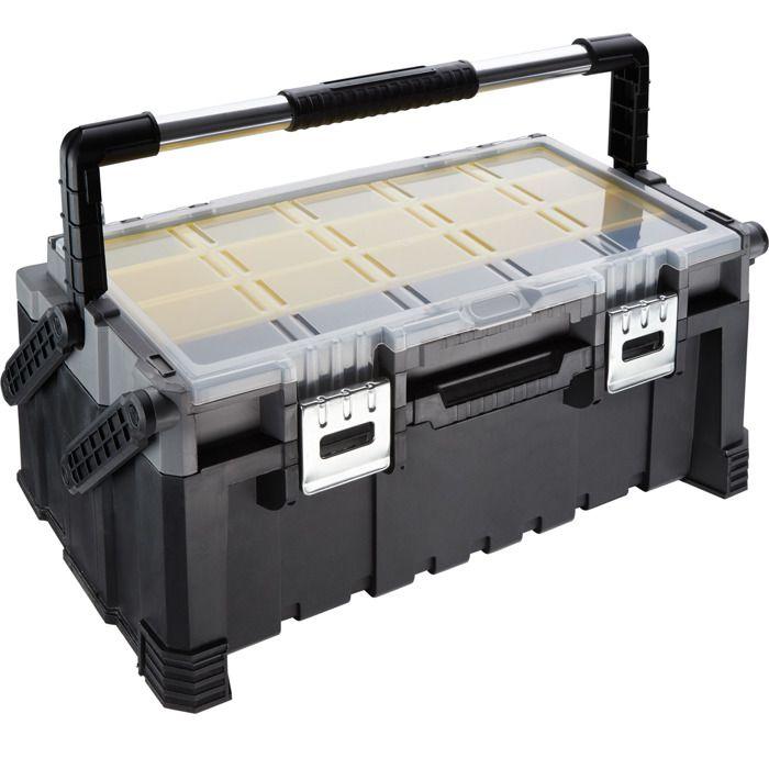 TECTAKE Boîte à Outils Vide 56,5 x 31,5 x 24,5 cm