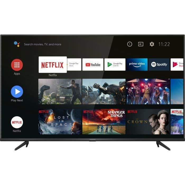 THOMSON 65UG6420 - TV LED 65'' (164cm) - UHD 4K - HDR10 - Android TV 9.0 - Dolby Audio - 3xHDMI - 2xUSB - Noir