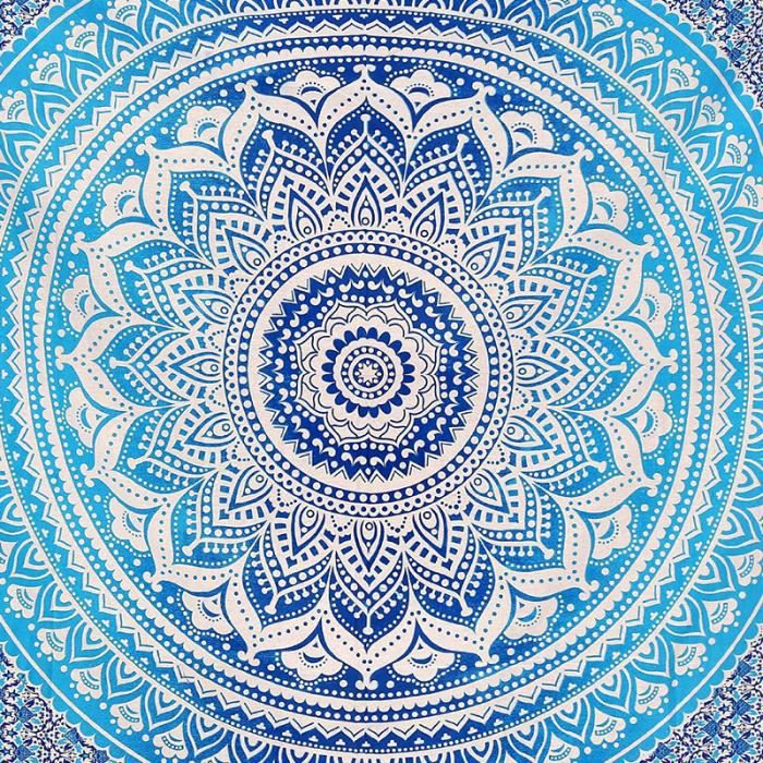 Indian decor mandala tapisserie tenture murale hippie for Decoration murale mandala