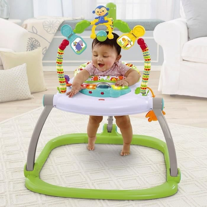 Trotteur fisher price jumperoo compact vert achat for Silla 4 en 1 fisher price