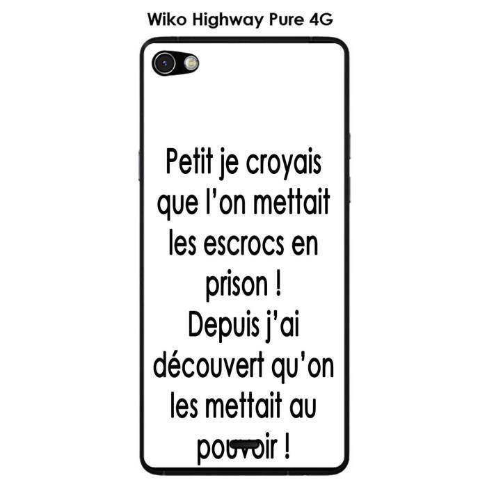 Coque Wiko Highway Pure design Citation