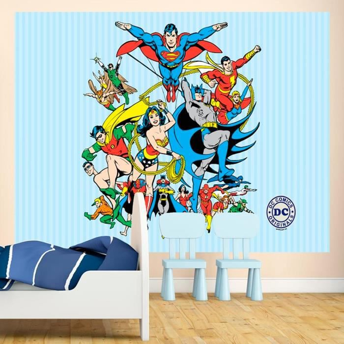papier peint original dc comics achat vente papier. Black Bedroom Furniture Sets. Home Design Ideas