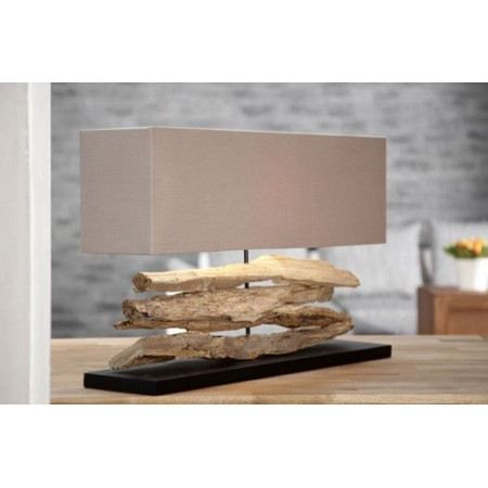 lampe bois flott naturel beige novea achat vente. Black Bedroom Furniture Sets. Home Design Ideas