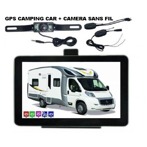 gps camping car avec camera de recul sans fil 2016 achat vente pack gps auto gps camping car. Black Bedroom Furniture Sets. Home Design Ideas