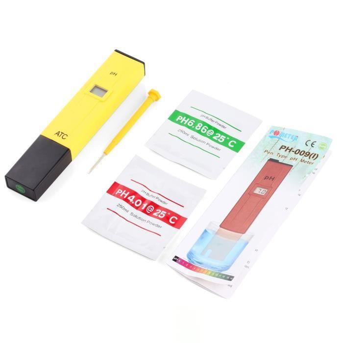 Stylo Testeur PH avec /écran LCD Testeur portable Stylo num/érique PH M/ètre pour Aquarium Piscine deau hydroponique Laboratoire